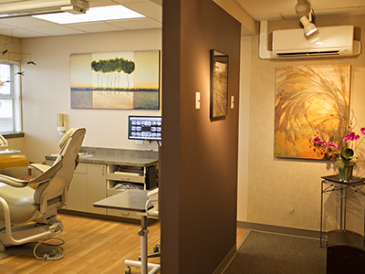 slide show image Dentistry With Smiles Kelsey Ullsmith DMD Exam Room Hallway CB 5674